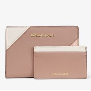 Medium Tri-Color Leather Slim Wallet
